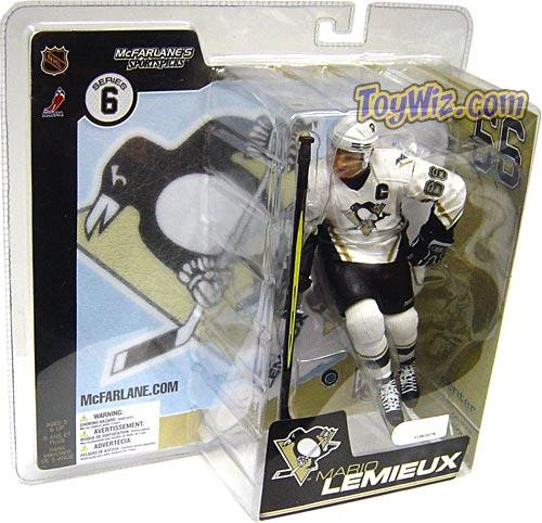 McFarlane Toys NHL Pittsburgh Penguins Sports Picks Series 6 Mario Lemieux Action Figure [White Jersey]