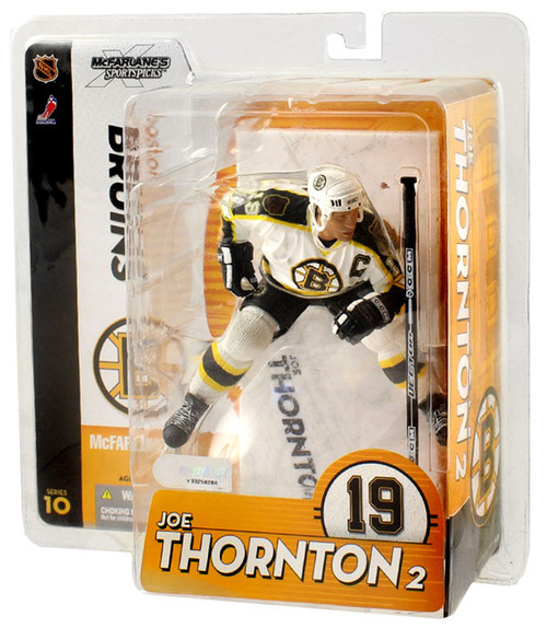 McFarlane Toys NHL Boston Bruins Sports Picks Series 10 Joe Thornton Action Figure [White Jersey]