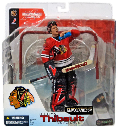 McFarlane Toys NHL Chicago Blackhawks Sports Picks Series 4 Jocelyn Thibault Action Figure [Red Jersey Variant]