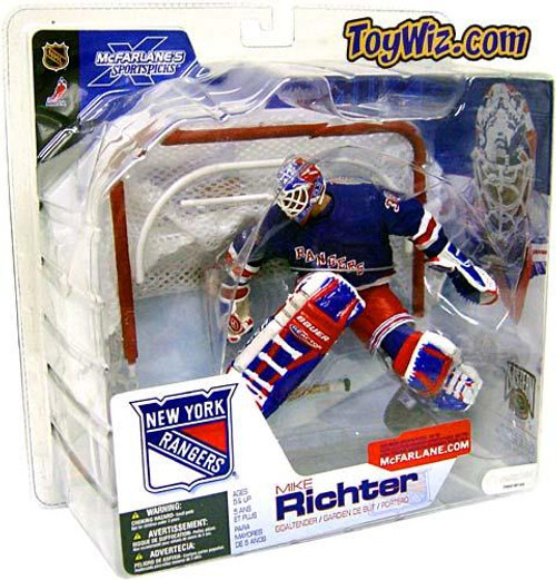 McFarlane Toys NHL New York Rangers Sports Picks Series 4 Mike Richter Action Figure [Blue Jersey Variant]