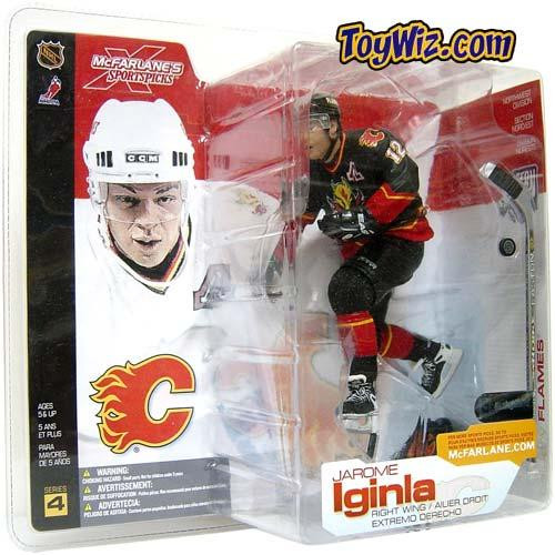 McFarlane Toys NHL Calgary Flames Sports Picks Series 4 Jarome Iginla Action Figure [Black Jersey Variant]