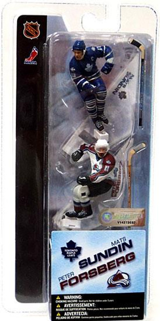 McFarlane Toys NHL Toronto Maple Leafs & Colorado Avalanche Sports Picks 3 Inch Mini Series 1 Mats Sundin & Peter Forsberg Mini Figure 2-Pack