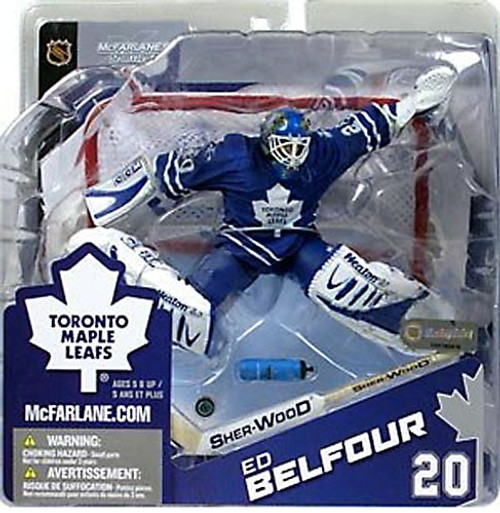 McFarlane Toys NHL Toronto Maple Leafs Sports Picks Series 8 Ed Belfour Exclusive Action Figure [Blue Jersey Variant]