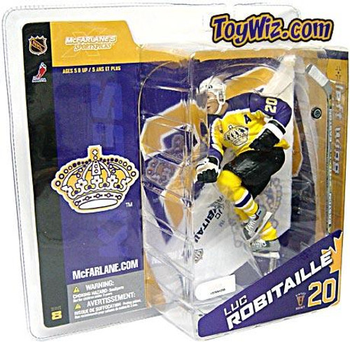 McFarlane Toys NHL Los Angeles Kings Sports Picks Series 8 Luc Robitaille Exclusive Action Figure [Retro Yellow Jersey Variant]