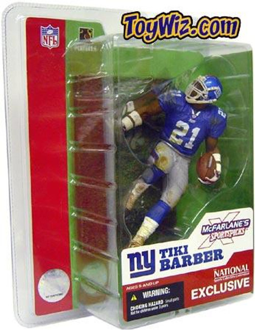 McFarlane Toys NFL New York Giants Sports Picks 2003 National Tiki Barber Exclusive Action Figure