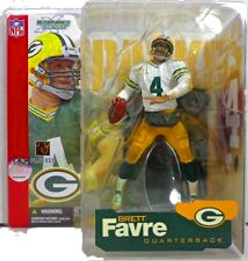 McFarlane Toys NFL Green Bay Packers Sports Picks Series 4 Brett Favre Action Figure [White Jersey White Sleeves Variant]