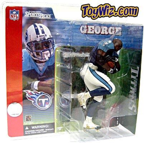 McFarlane Toys NFL Tennessee Titans Sports Picks Series 1 Eddie George Action Figure [Blue Jersey No Helmet Variant]