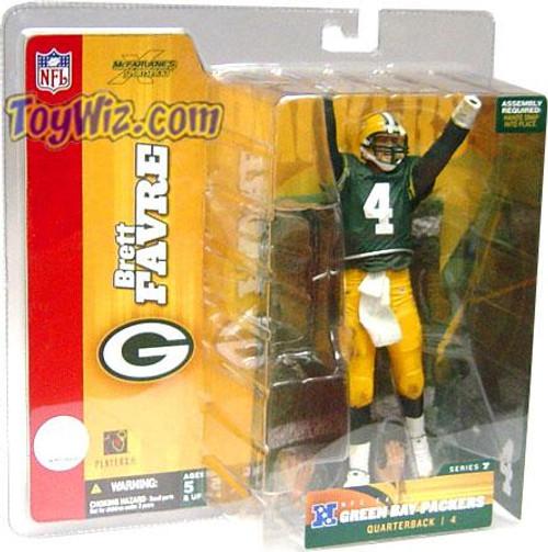 McFarlane Toys NFL Green Bay Packers Sports Picks Series 7 Brett Favre Action Figure [Green Jersey]
