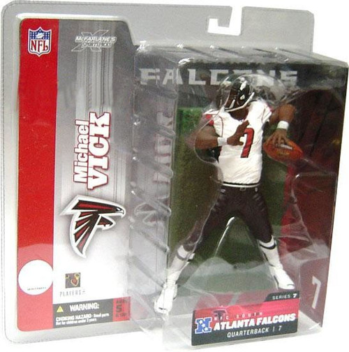 McFarlane Toys NFL Atlanta Falcons Sports Picks Series 7 Michael Vick Action Figure [White Jersey]