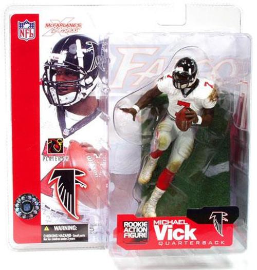 McFarlane Toys NFL Atlanta Falcons Sports Picks Series 4 Michael Vick Action Figure [White Jersey]