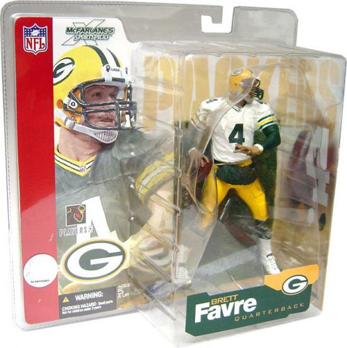 McFarlane Toys NFL Green Bay Packers Sports Picks Series 4 Brett Favre Action Figure [White Jersey Green Sleeves Variant]