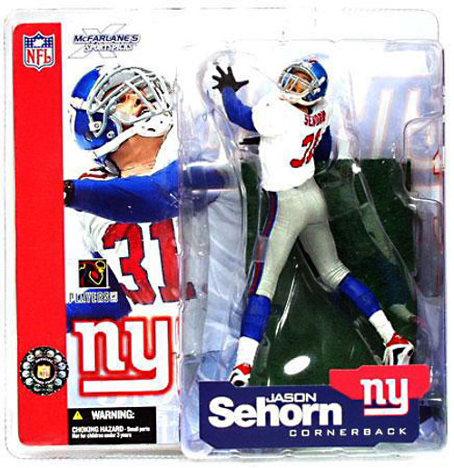 McFarlane Toys NFL New York Giants Sports Picks Series 4 Jason Sehorn Action Figure [White Jersey]