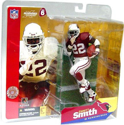 McFarlane Toys NFL Arizona Cardinals Sports Picks Series 6 Emmitt Smith Action Figure [Red Jersey White Gloves]