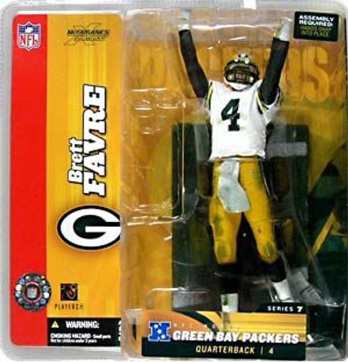 McFarlane Toys NFL Green Bay Packers Sports Picks Series 7 Brett Favre Action Figure [White Jersey Variant]