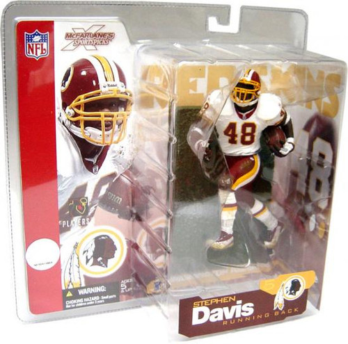 McFarlane Toys NFL Washington Redskins Sports Picks Series 5 Stephen Davis Action Figure [White Jersey]