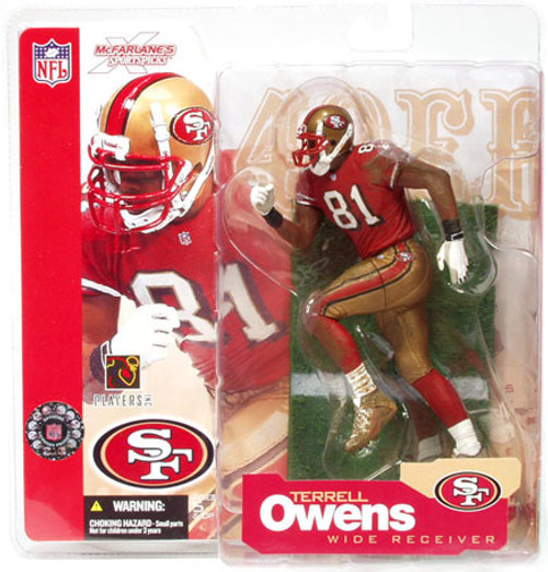 McFarlane Toys NFL San Francisco 49ers Sports Picks Series 4 Terrell Owens Action Figure [Red Jersey]