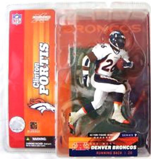 McFarlane Toys NFL Denver Broncos Sports Picks Series 7 Clinton Portis Action Figure [White Jersey Variant]