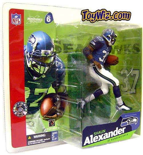 McFarlane Toys NFL Seattle Seahawks Sports Picks Series 6 Shaun Alexander Action Figure [Blue Jersey White Pants]