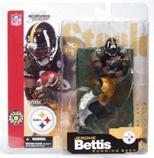 McFarlane Toys NFL Pittsburgh Steelers Sports Picks Series 5 Jerome Bettis Action Figure [Black Jersey]