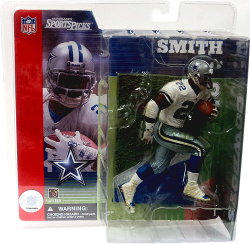 McFarlane Toys NFL Dallas Cowboys Sports Picks Series 1 Emmitt Smith Action Figure [White Jersey With Grass Stains]