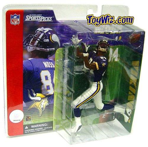 McFarlane Toys NFL Minnesota Vikings Sports Picks Series 1 Randy Moss Action Figure [Purple Jersey]