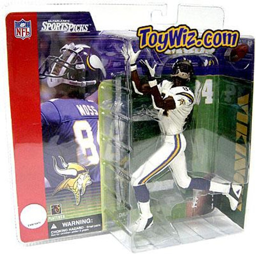 McFarlane Toys NFL Minnesota Vikings Sports Picks Series 1 Randy Moss Action Figure [White Jersey Variant]