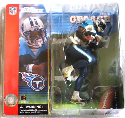 McFarlane Toys NFL Tennessee Titans Sports Picks Series 1 Eddie George Action Figure [White Jersey Variant]