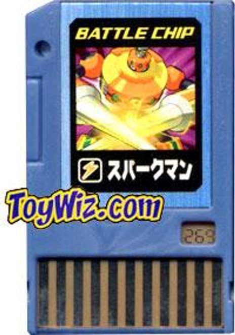 Capcom Mega Man Japanese PET SparkMan Battle Chip #269