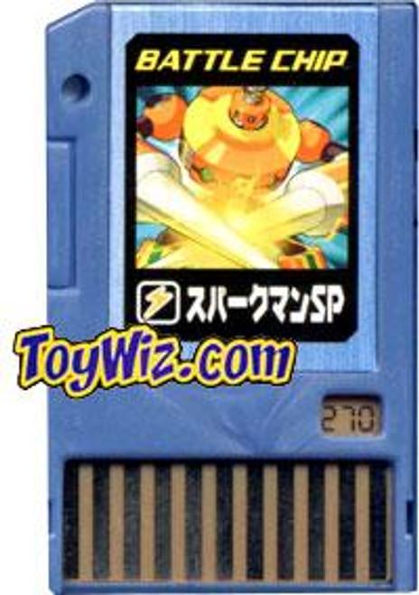 Capcom Mega Man Japanese PET SparkMan SP Battle Chip #270