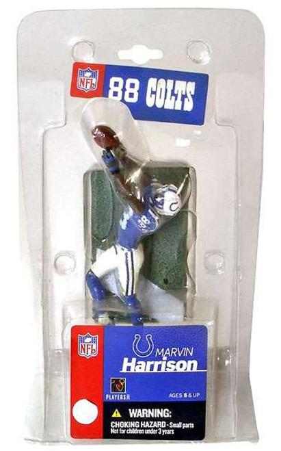 McFarlane Toys NFL Indianapolis Colts Sports Picks 3 Inch Mini Marvin Harrison Mini Figure