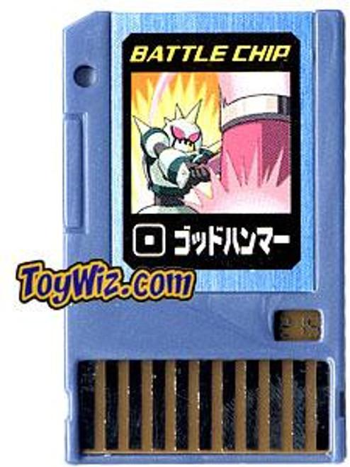 Capcom Mega Man Japanese PET God Hammer Battle Chip #215