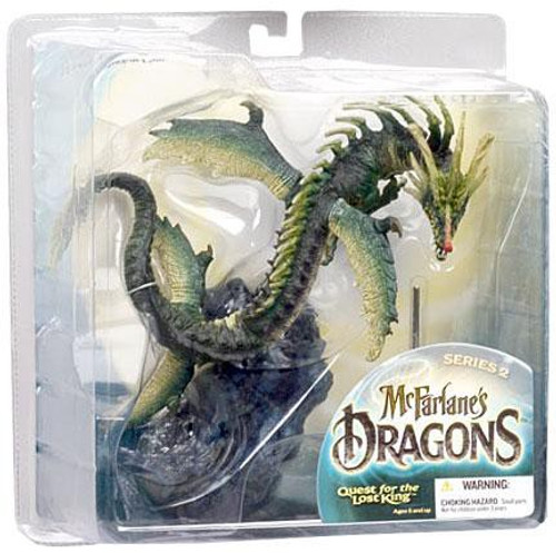 McFarlane Toys McFarlane's Dragons Quest for the Lost King Series 2 Water Clan Dragon 2 Action Figure