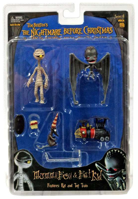 NECA The Nightmare Before Christmas Series 4 Mummy Boy & Bat Kid Action Figure Set