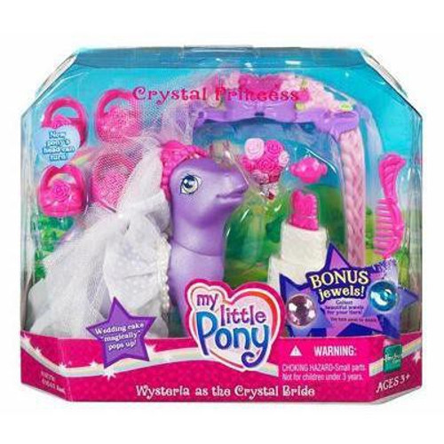 My Little Pony Crystal Princess Wysteria as the Crystal Bride Figure Set