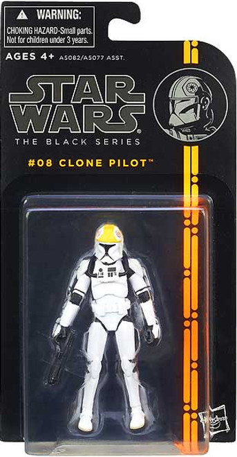 Star Wars Attack of the Clones Black Series Wave 1 Clone Pilot Action Figure #08