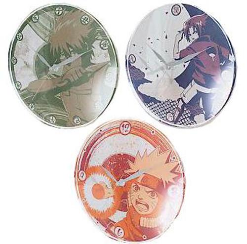 Naruto Set of 3 Wall Clocks