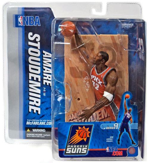 McFarlane Toys NBA Phoenix Suns Sports Picks Series 9 Amare Stoudamire Action Figure [Orange Jersey Variant]