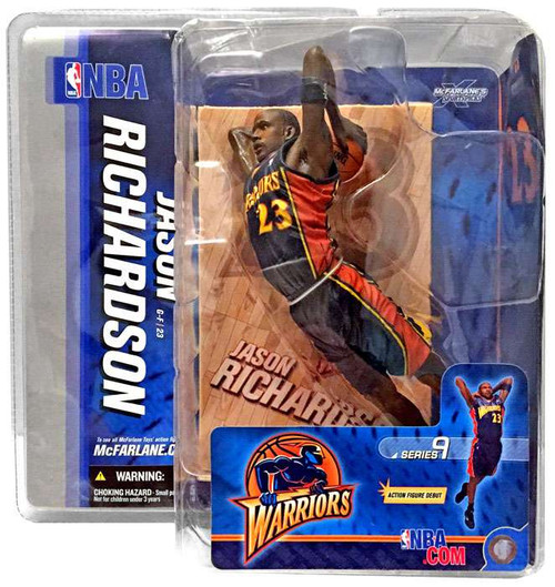 McFarlane Toys NBA Golden State Warriors Sports Picks Series 9 Jason Richardson Action Figure [Blue Jersey]