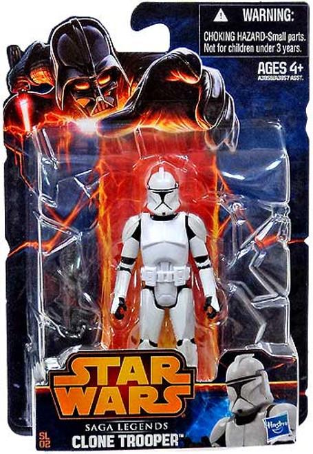 Star Wars Revenge of the Sith Saga Legends 2013 Clone Trooper Action Figure SL02