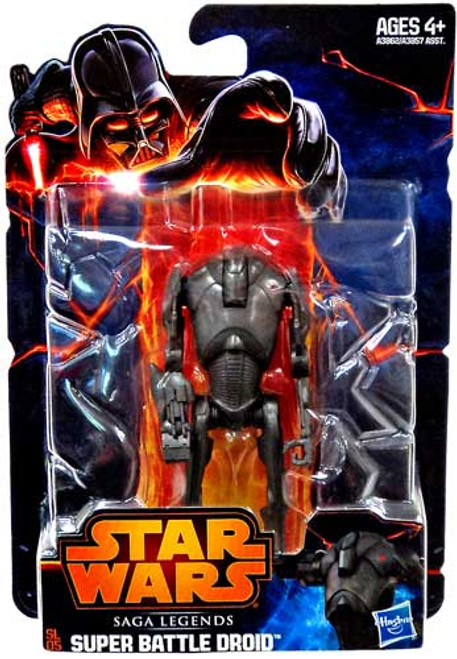 Star Wars Revenge of the Sith Saga Legends 2013 Super Battle Droid Action Figure SL05