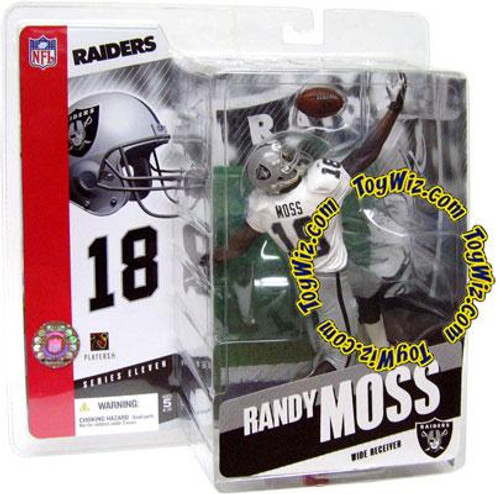 McFarlane Toys NFL Oakland Raiders Sports Picks Series 11 Randy Moss Action Figure [White Jersey]