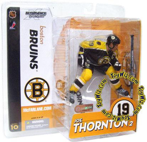 McFarlane Toys NHL Boston Bruins Sports Picks Series 10 Joe Thornton Action Figure [Black Jersey Variant]
