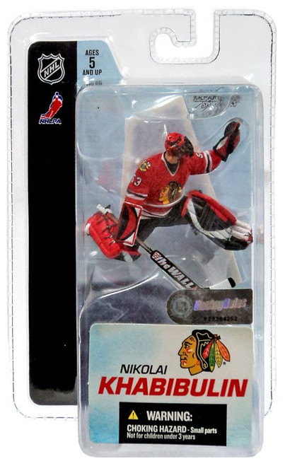 McFarlane Toys NHL Chicago Blackhawks Sports Picks 3 Inch Mini Series 3 Nikolai Khabibulin Mini Figure