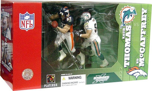 McFarlane Toys NFL Miami Dolphins / Denver Broncos Sports Picks Zach Thomas & Ed McCaffrey Action Figure 2-Pack