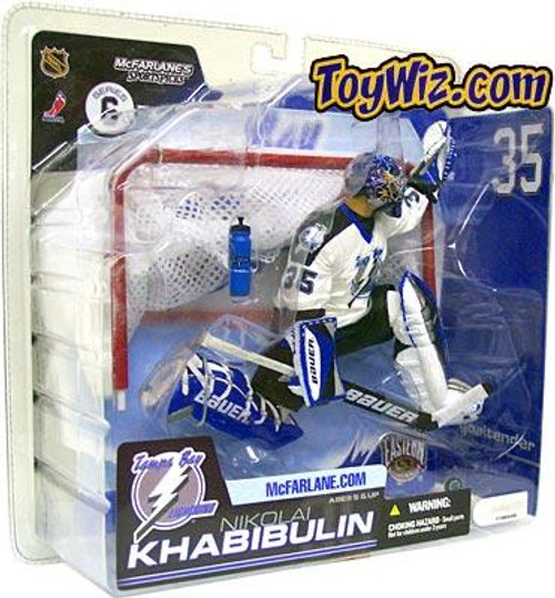 McFarlane Toys NHL Tampa Bay Lightning Sports Picks Series 6 Nikolai Khabibulin Action Figure [White Jersey]