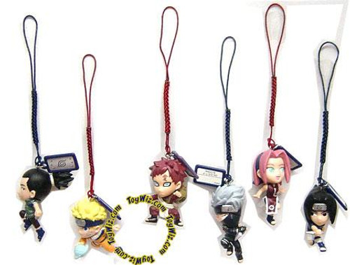 Naruto Set of 6 Phone Dangler Straps