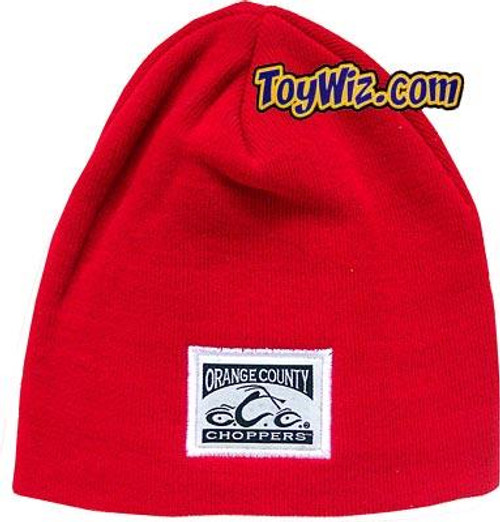 OCC Orange County Choppers Beanie [Red with Official Logo]