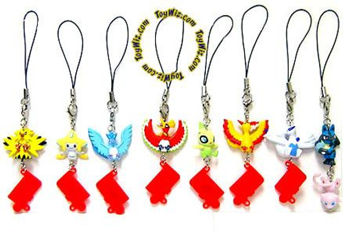 Set of 8 Legendary Pokemon Phone Danglers PVC Figures