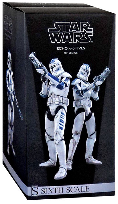 The Clone Wars Militaries of Star Wars Sixth Scale Echo & Fives 12 Inch Action Figure Set