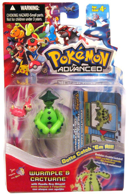 Pokemon Advanced Wurmple & Cacturn Mini Figure 2-Pack